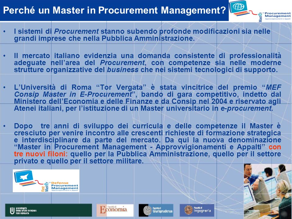 Perché un Master in Procurement Management