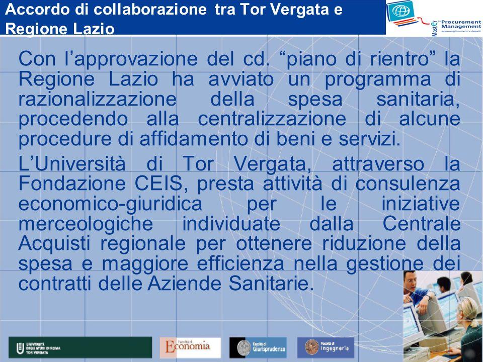 Accordo di collaborazione tra Tor Vergata e Regione Lazio