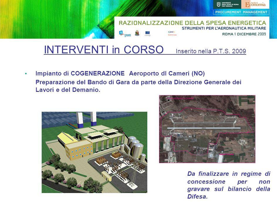 INTERVENTI in CORSO Inserito nella P.T.S. 2009