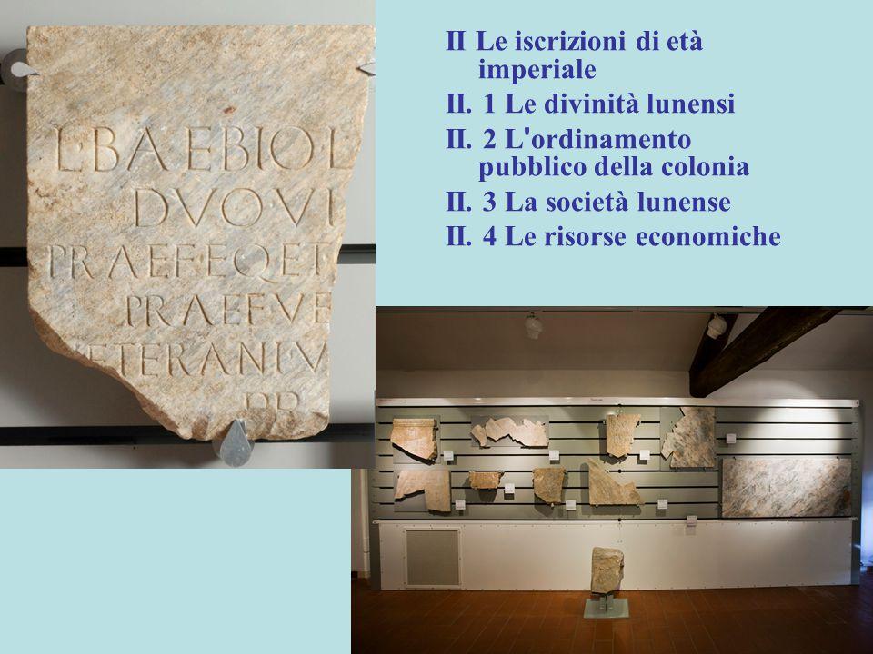 II Le iscrizioni di età imperiale