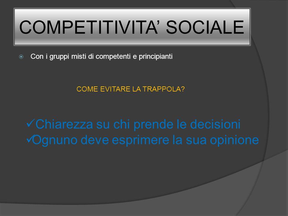 COMPETITIVITA' SOCIALE