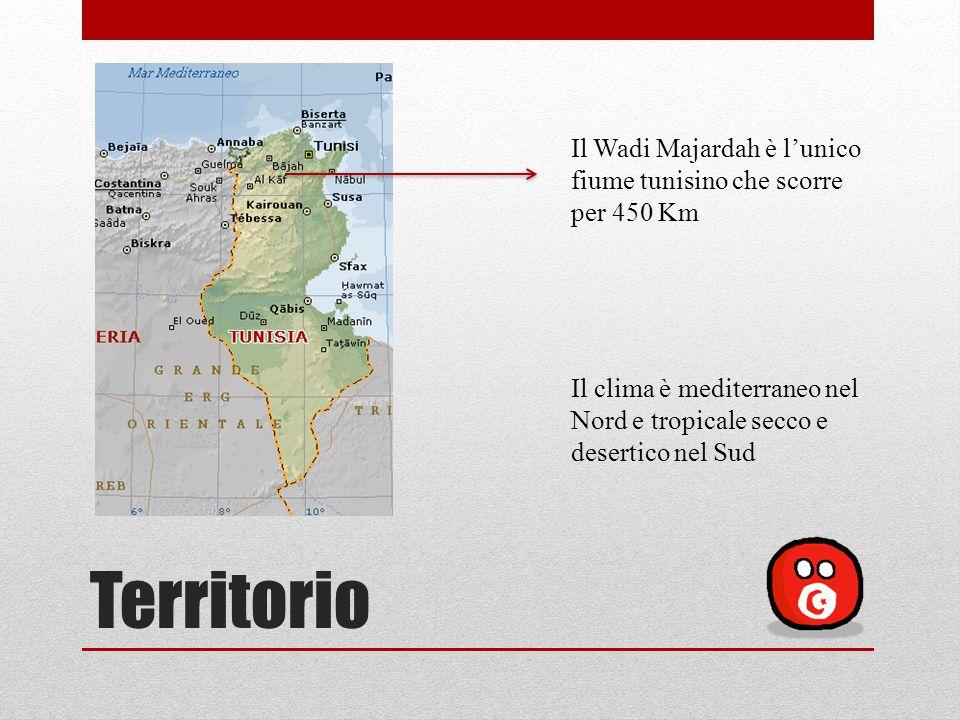 Il Wadi Majardah è l'unico fiume tunisino che scorre per 450 Km