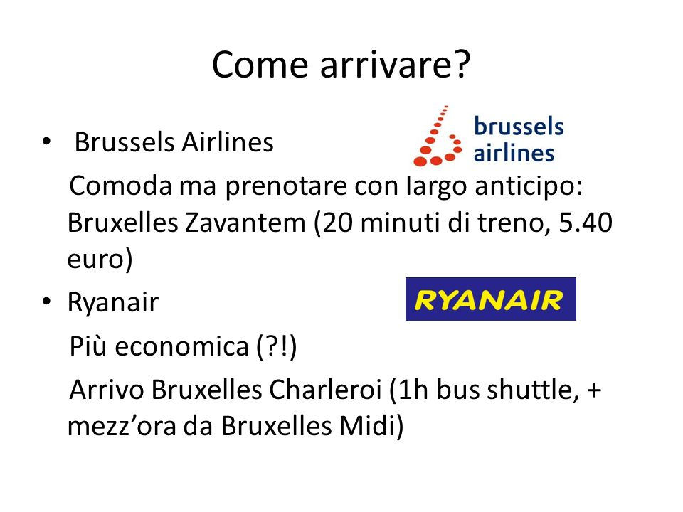 Come arrivare Brussels Airlines