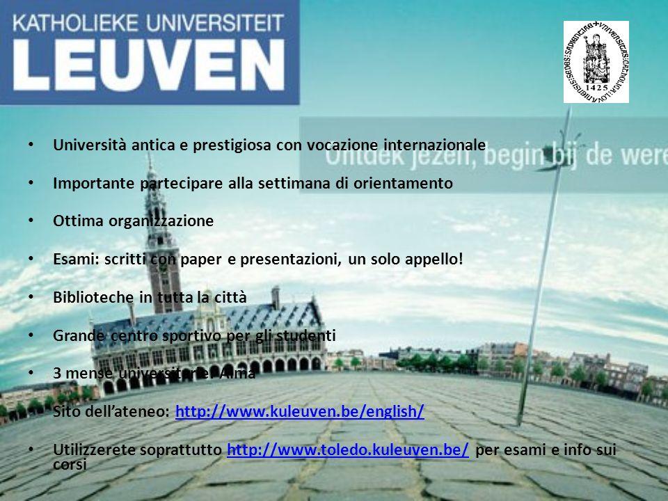Università antica e prestigiosa con vocazione internazionale