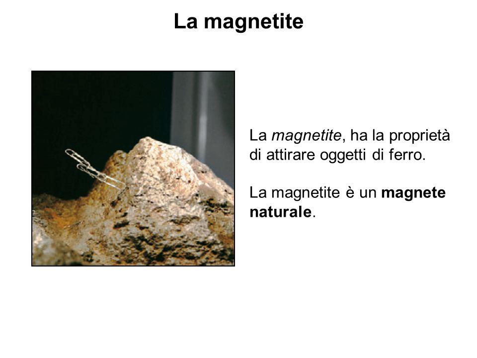 La magnetite La magnetite, ha la proprietà