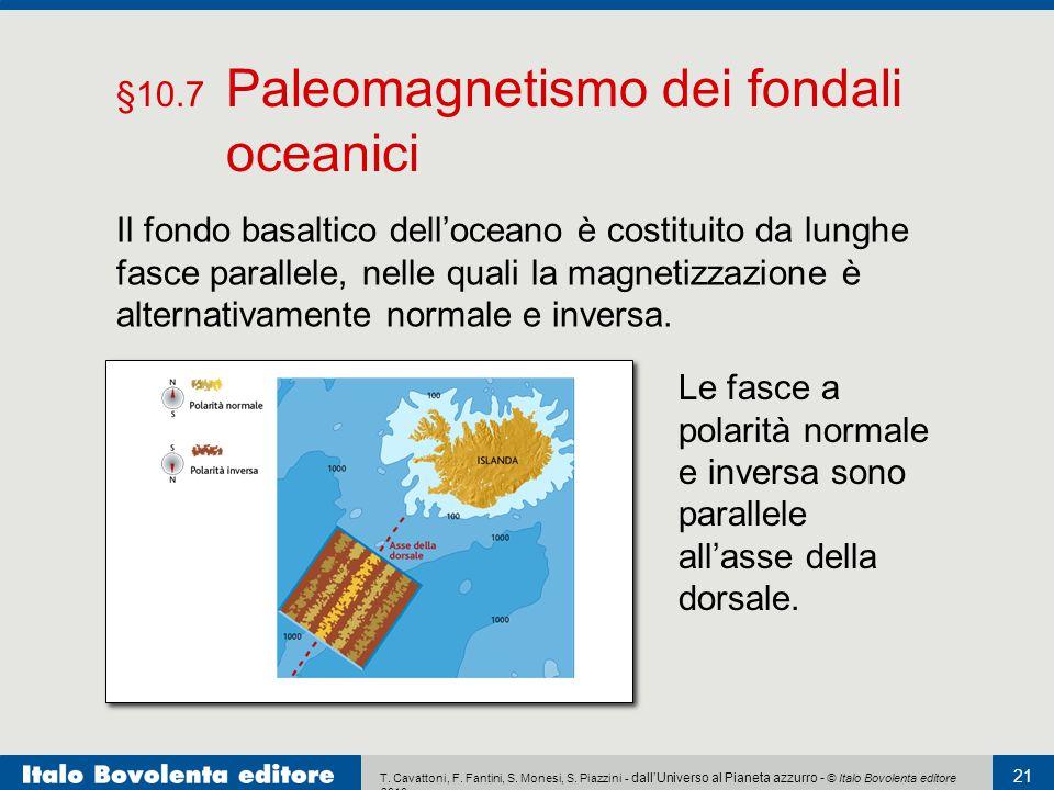 §10.7 Paleomagnetismo dei fondali oceanici