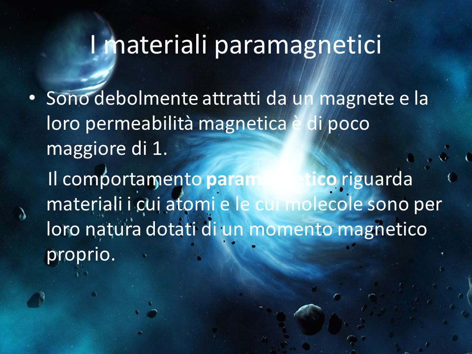 I materiali paramagnetici