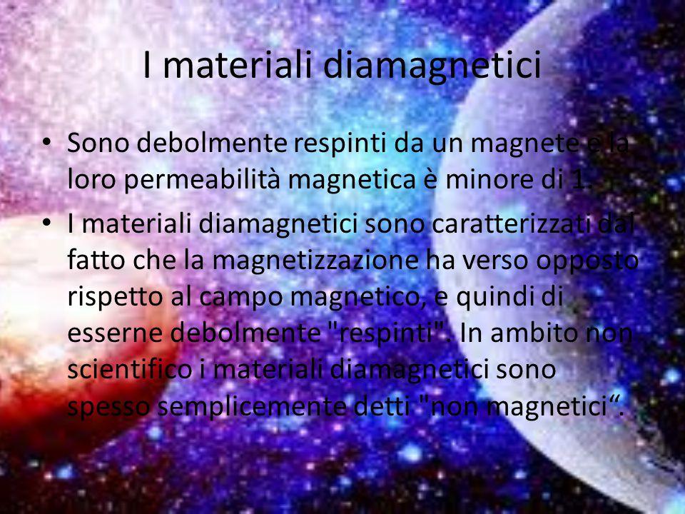 I materiali diamagnetici