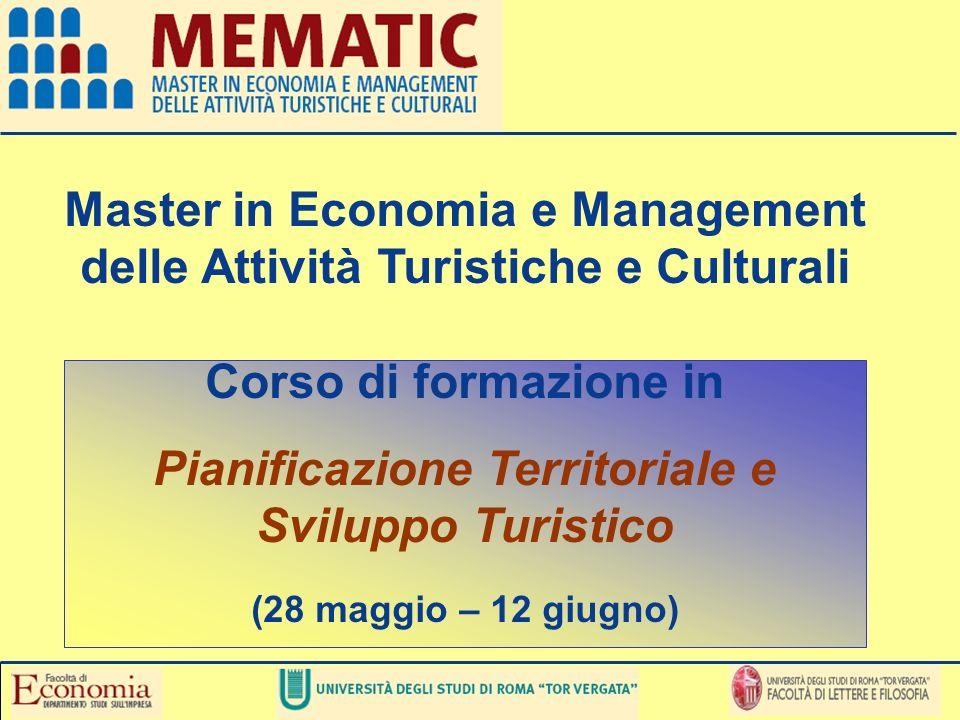 Master in Economia e Management delle Attività Turistiche e Culturali