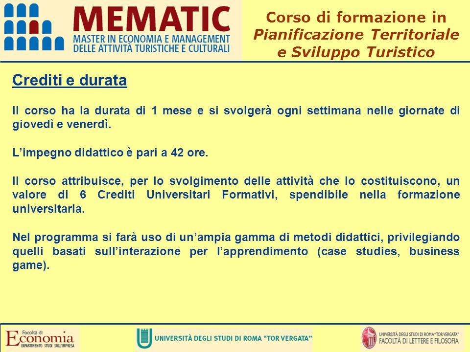 Pianificazione Territoriale e Sviluppo Turistico