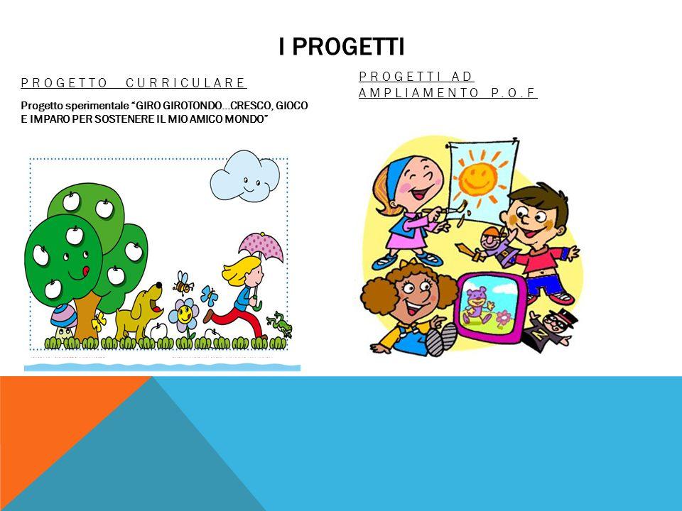 I PROGETTI PROGETTI AD AMPLIAMENTO P.O.F PROGETTO CURRICULARE
