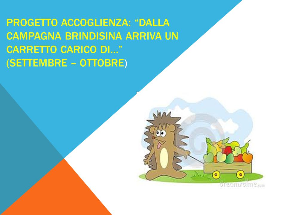 Progetto Accoglienza: DALLA CAMPAGNA BRINDISINA ARRIVA UN CARRETTO CARICO DI… (Settembre – ottobre)