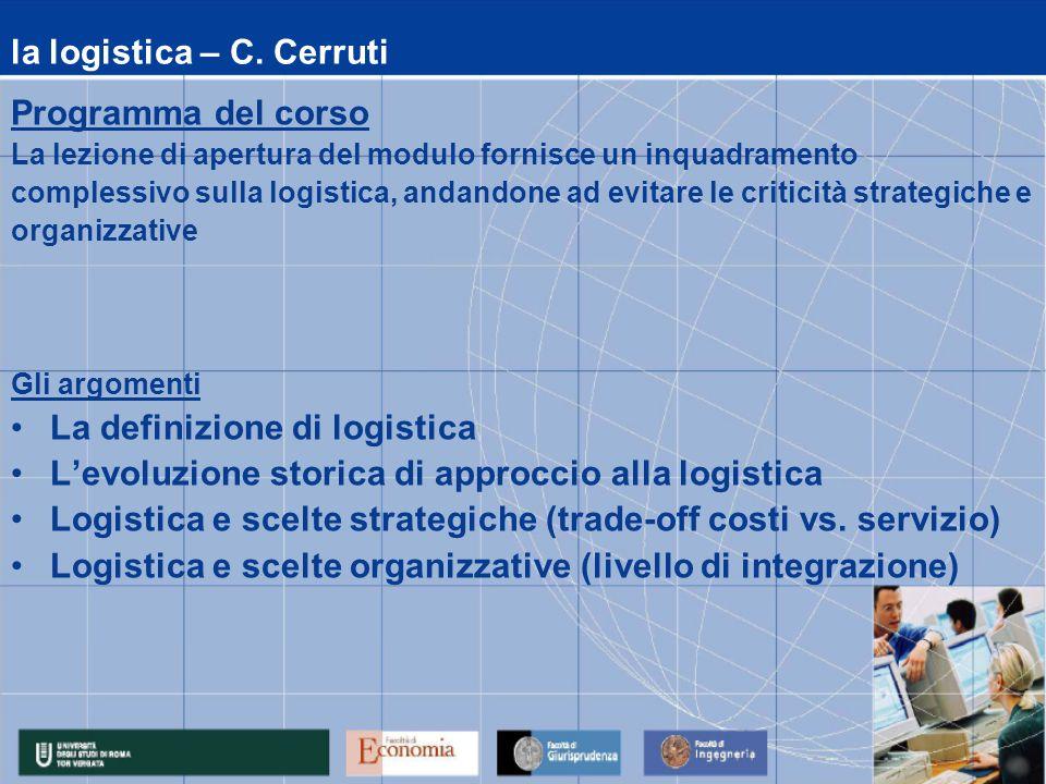 la logistica – C. Cerruti