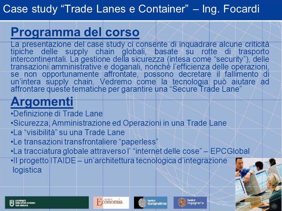 Case study Trade Lanes e Container – Ing. Focardi