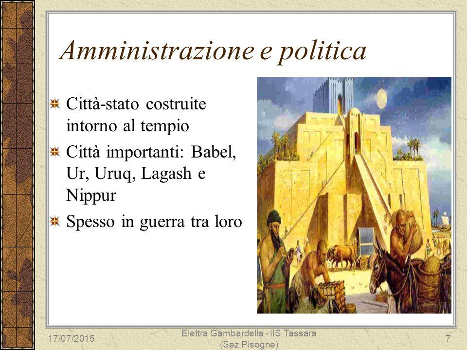 Amministrazione e politica