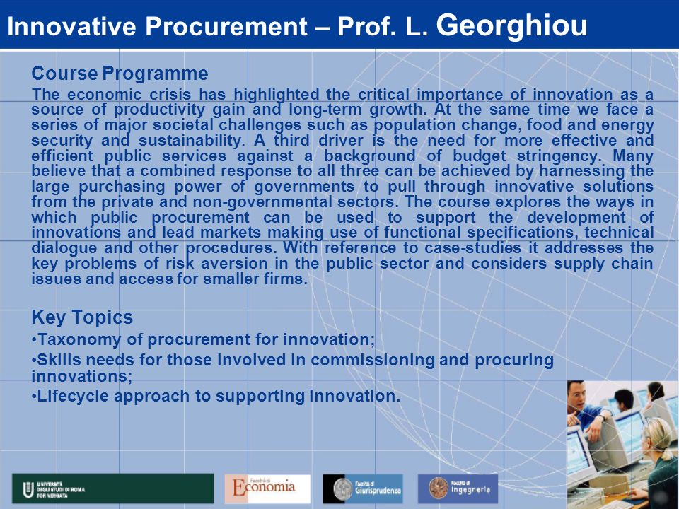 Innovative Procurement – Prof. L. Georghiou