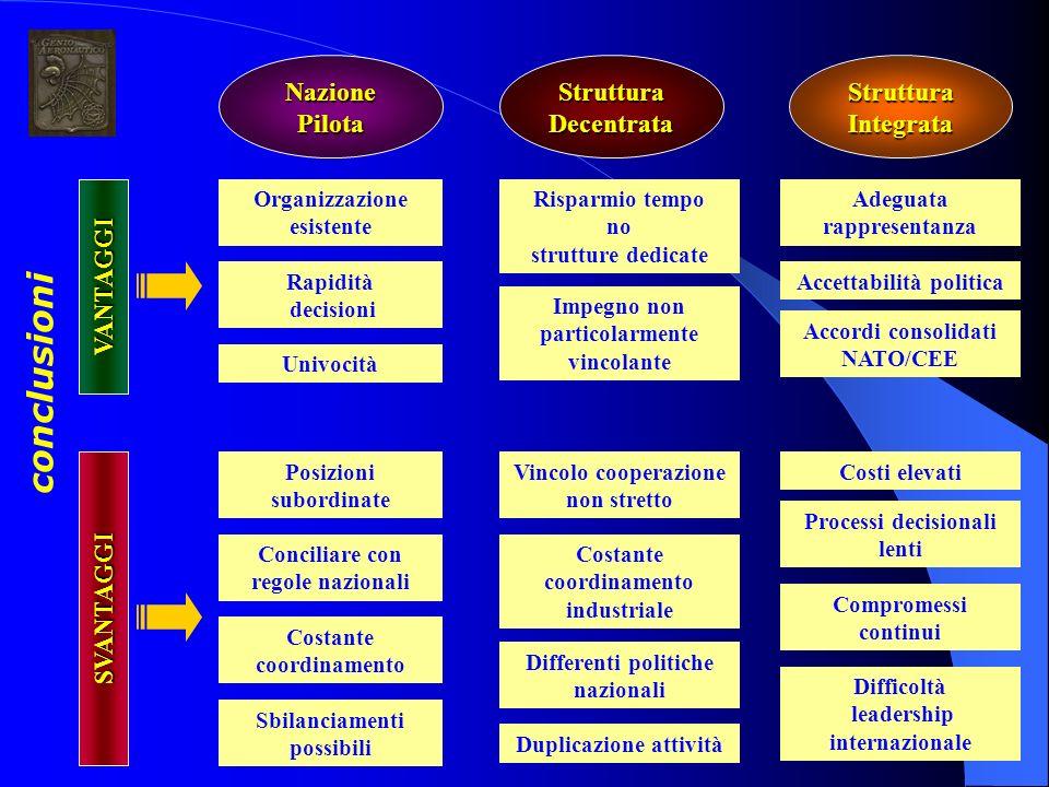 conclusioni Nazione Pilota Struttura Decentrata Struttura Integrata
