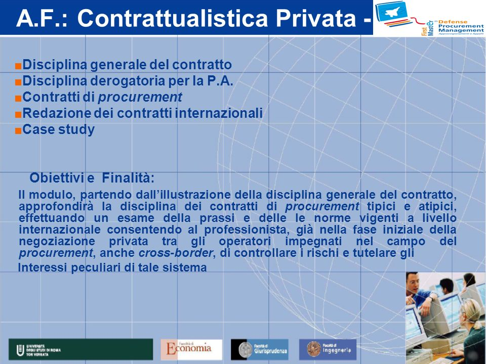 A.F.: Contrattualistica Privata -