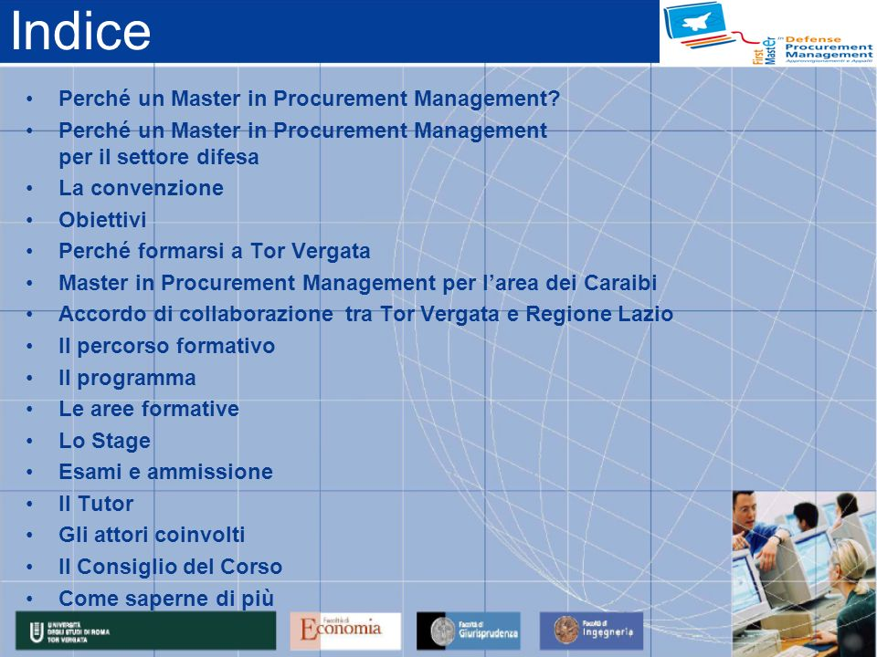 Indice Perché un Master in Procurement Management