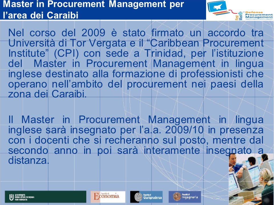 Master in Procurement Management per l'area dei Caraibi