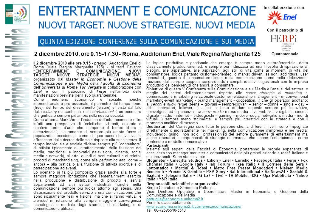 Conferenze sulla Comunicazione e sui Media