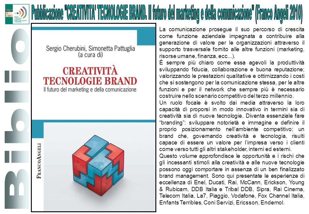 Pubblicazione CREATIVITA TECNOLOGIE BRAND