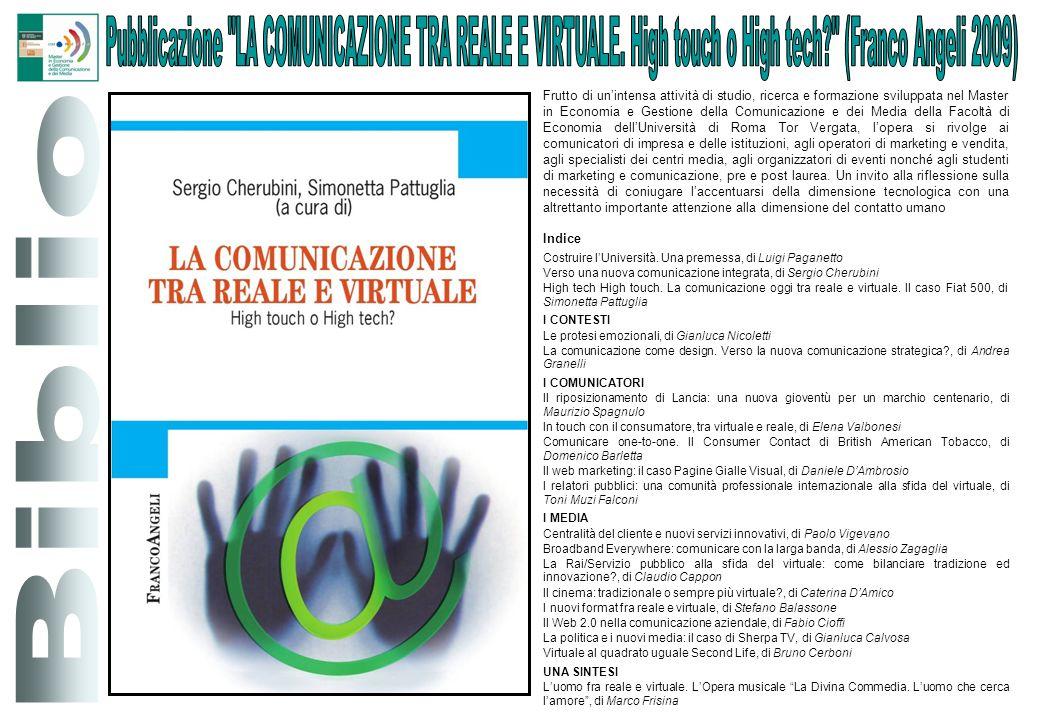 Pubblicazione LA COMUNICAZIONE TRA REALE E VIRTUALE