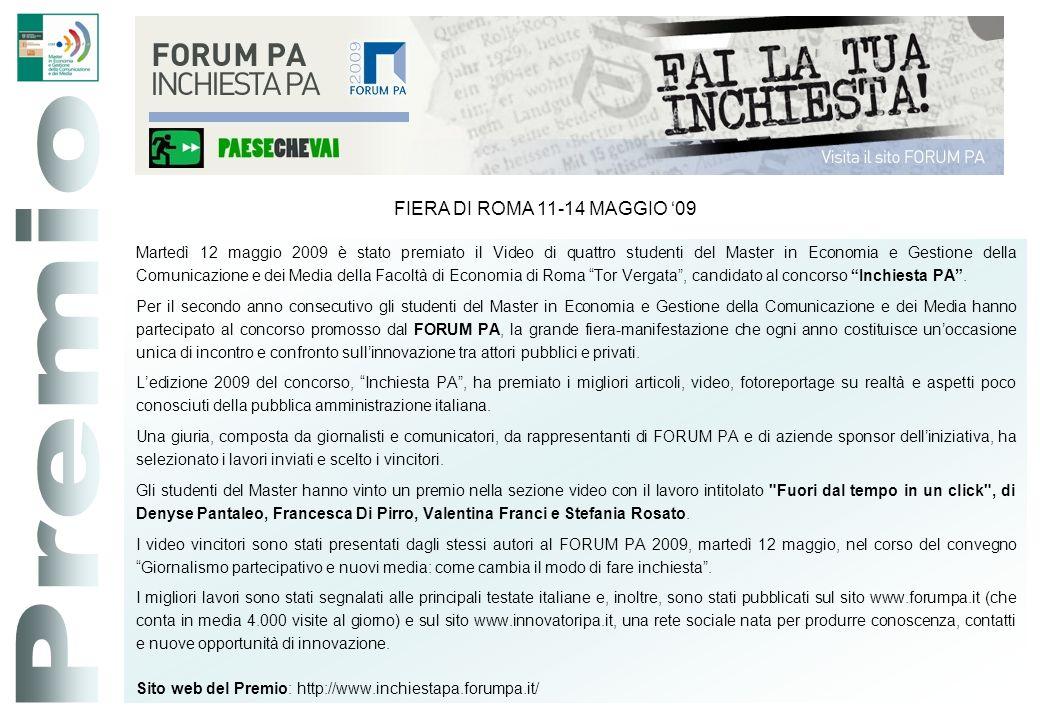 Premio FIERA DI ROMA 11-14 MAGGIO '09