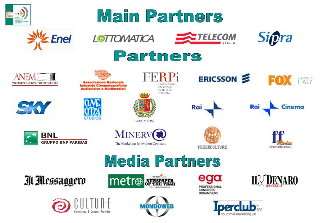 Main Partners Partners Polizia di Stato Media Partners