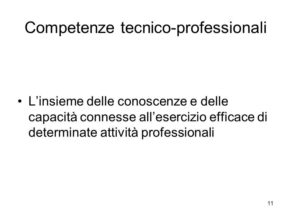 Competenze tecnico-professionali