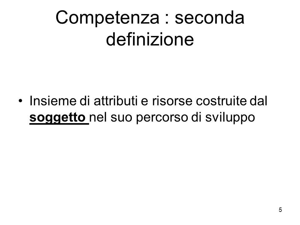 Competenza : seconda definizione