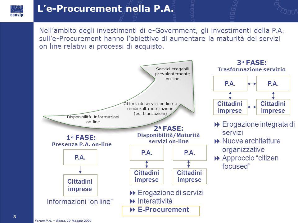 L'e-Procurement nella P.A.