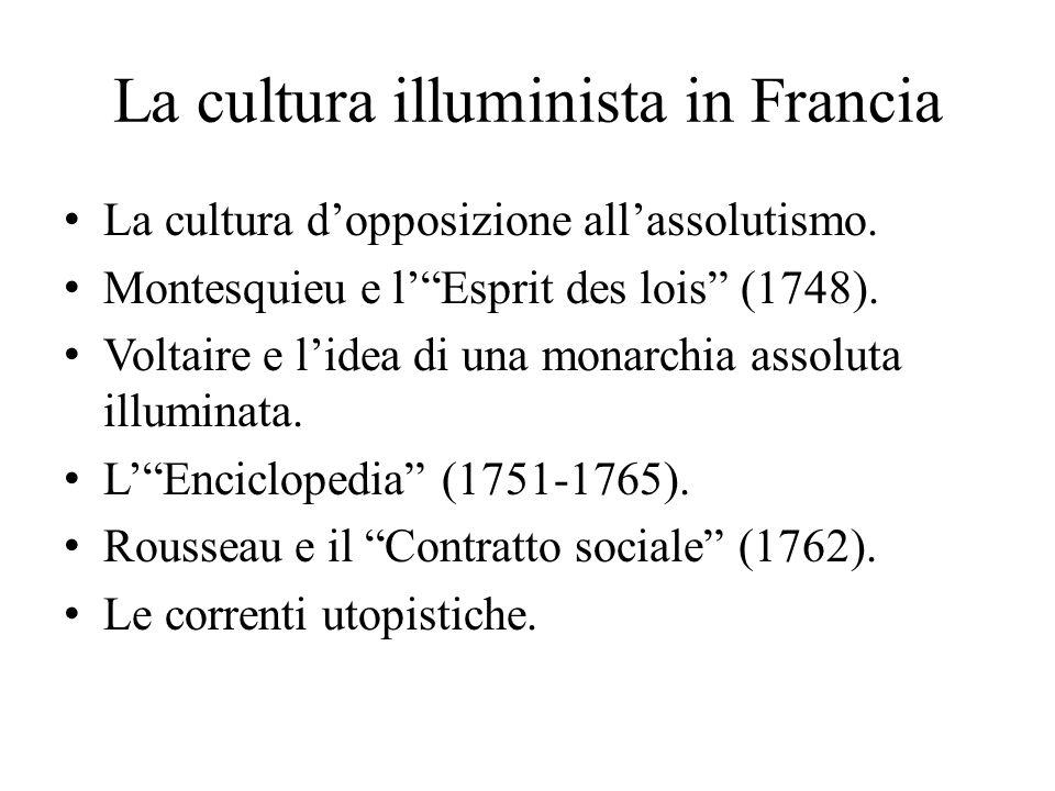 La cultura illuminista in Francia