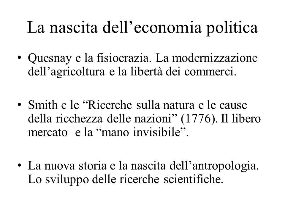 La nascita dell'economia politica