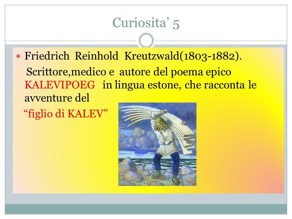 Curiosita' 5 Friedrich Reinhold Kreutzwald(1803-1882).