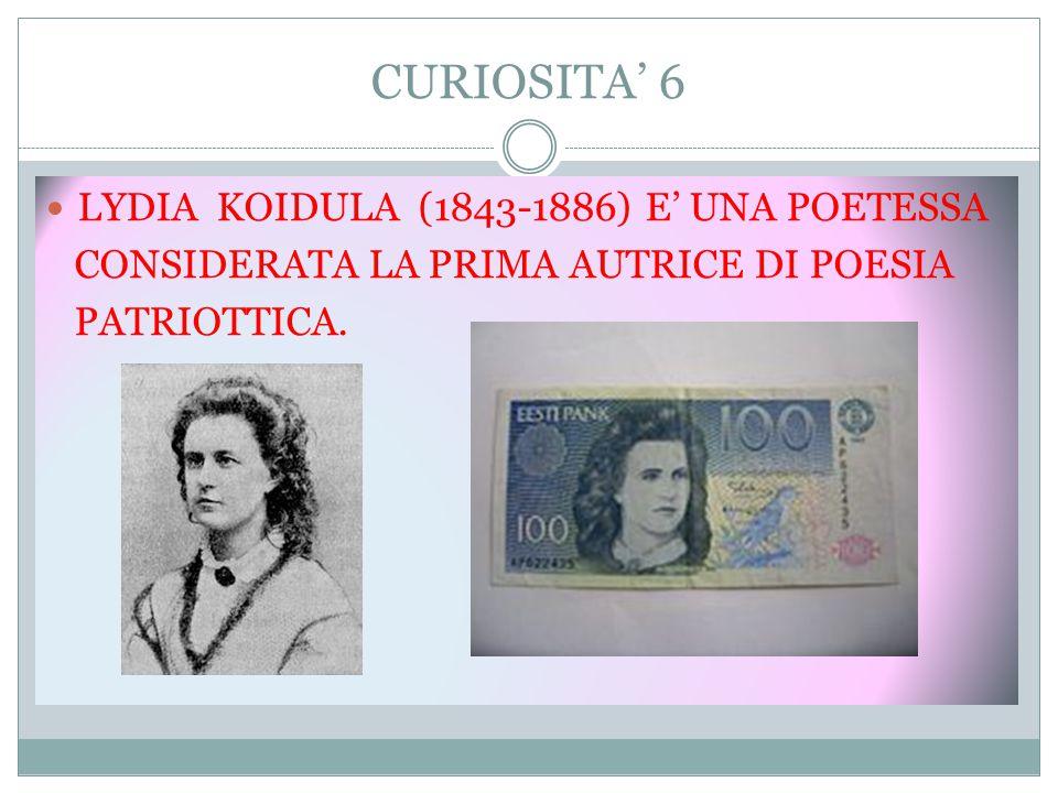 CURIOSITA' 6 LYDIA KOIDULA (1843-1886) E' UNA POETESSA