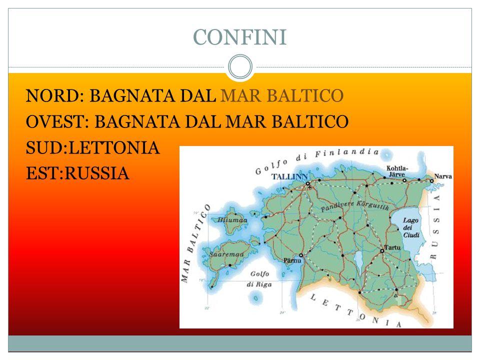 CONFINI NORD: BAGNATA DAL MAR BALTICO OVEST: BAGNATA DAL MAR BALTICO SUD:LETTONIA EST:RUSSIA
