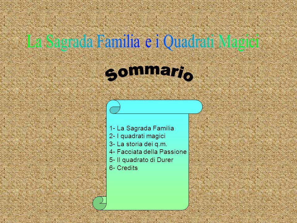 La Sagrada Familia e i Quadrati Magici