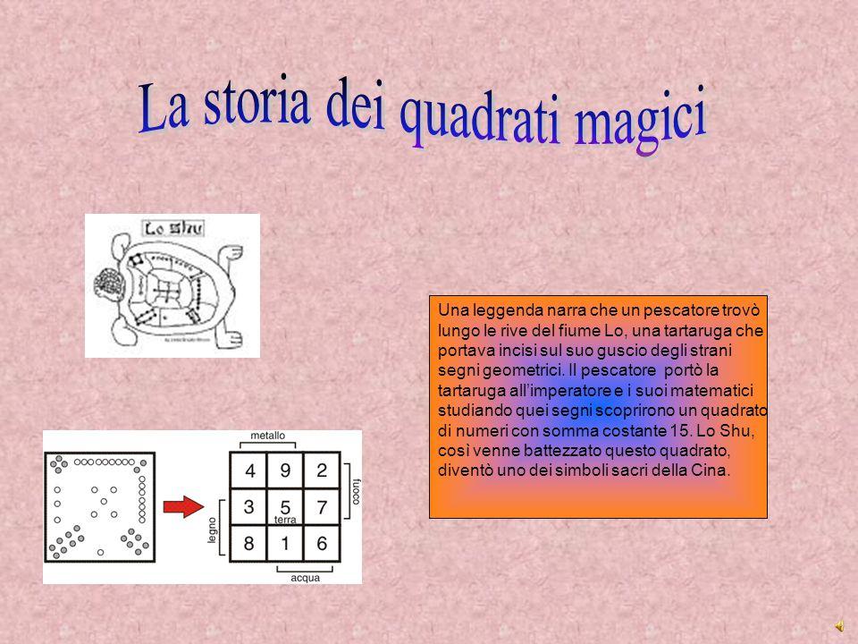 La storia dei quadrati magici