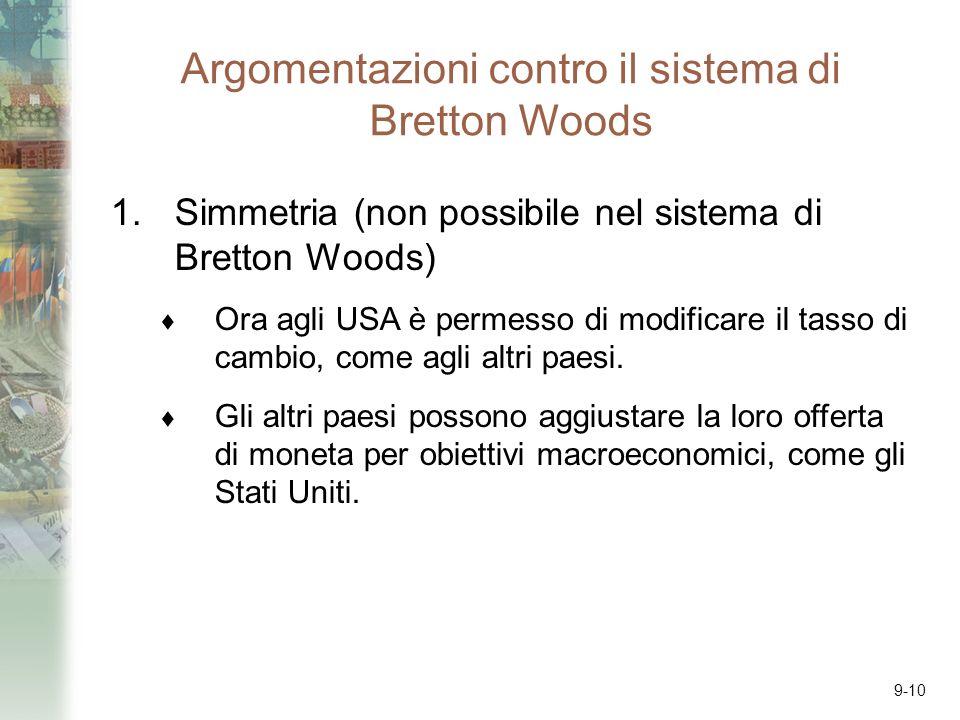Argomentazioni contro il sistema di Bretton Woods