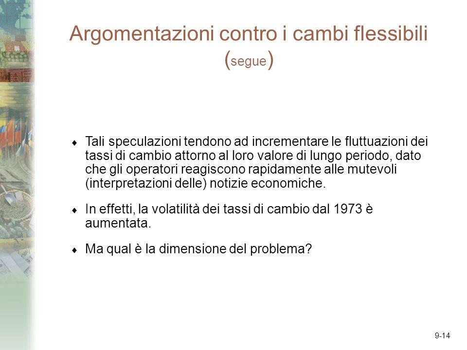 Argomentazioni contro i cambi flessibili (segue)