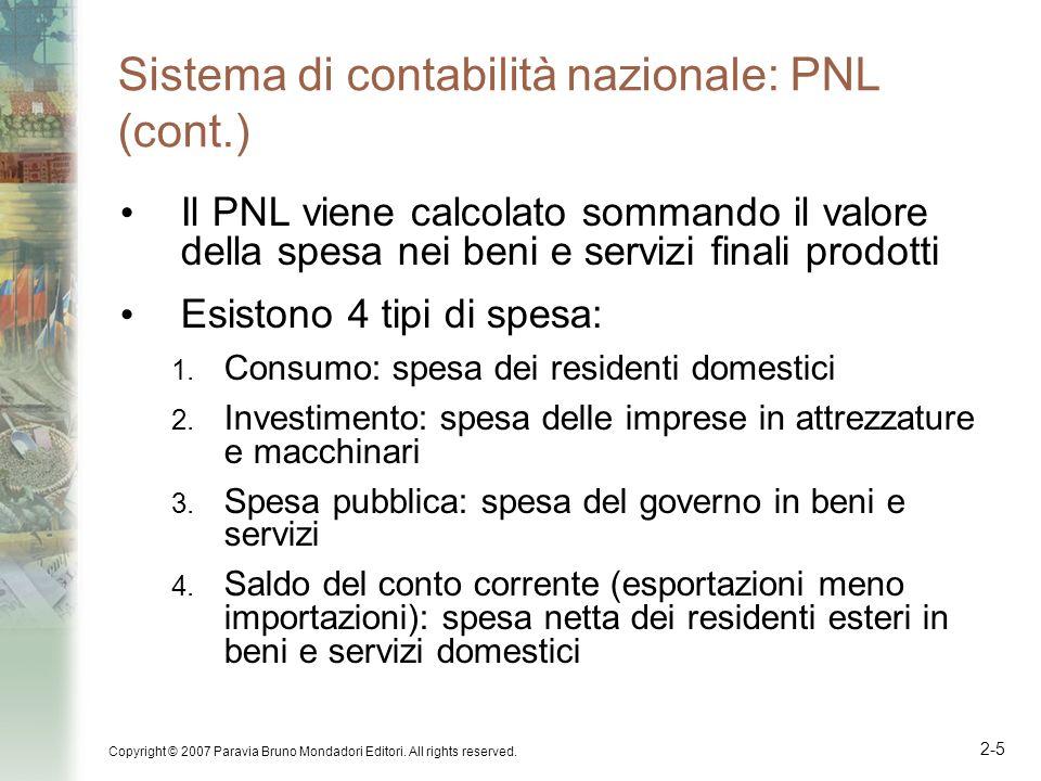 Sistema di contabilità nazionale: PNL (cont.)