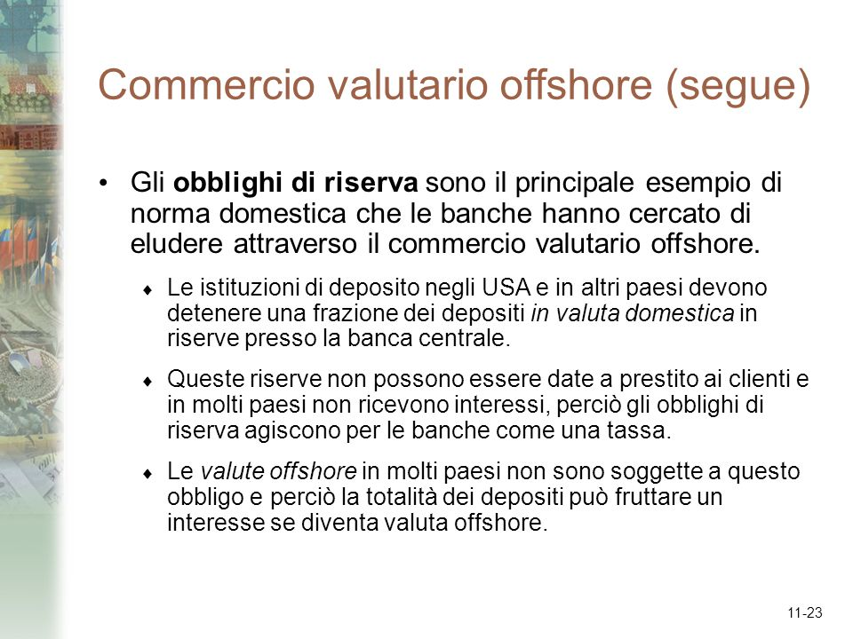 Commercio valutario offshore (segue)