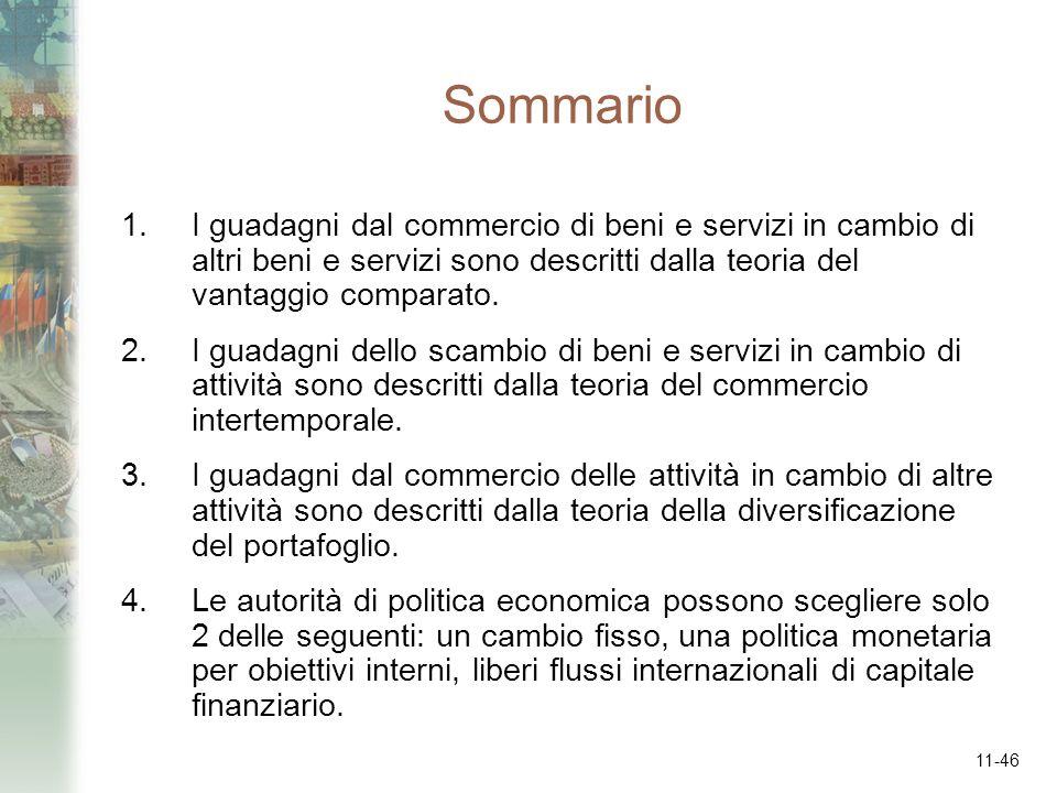 Sommario I guadagni dal commercio di beni e servizi in cambio di altri beni e servizi sono descritti dalla teoria del vantaggio comparato.