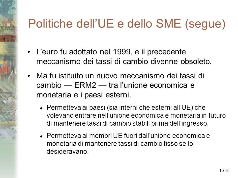 Politiche dell'UE e dello SME (segue)