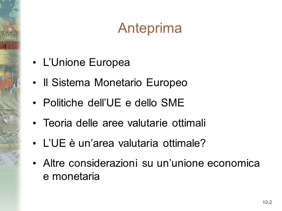 Anteprima L'Unione Europea Il Sistema Monetario Europeo