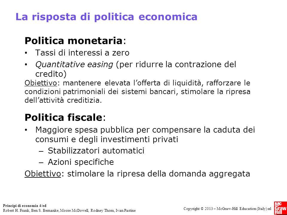 La risposta di politica economica