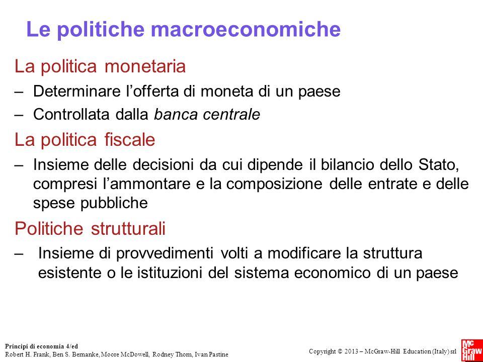 Le politiche macroeconomiche
