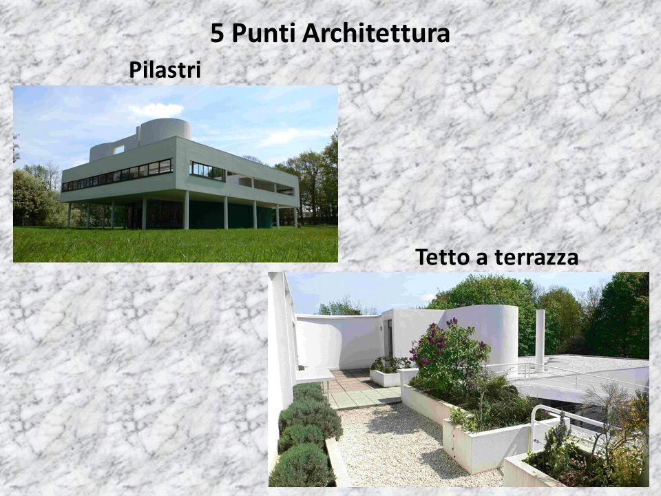5 Punti Architettura Pilastri Tetto a terrazza