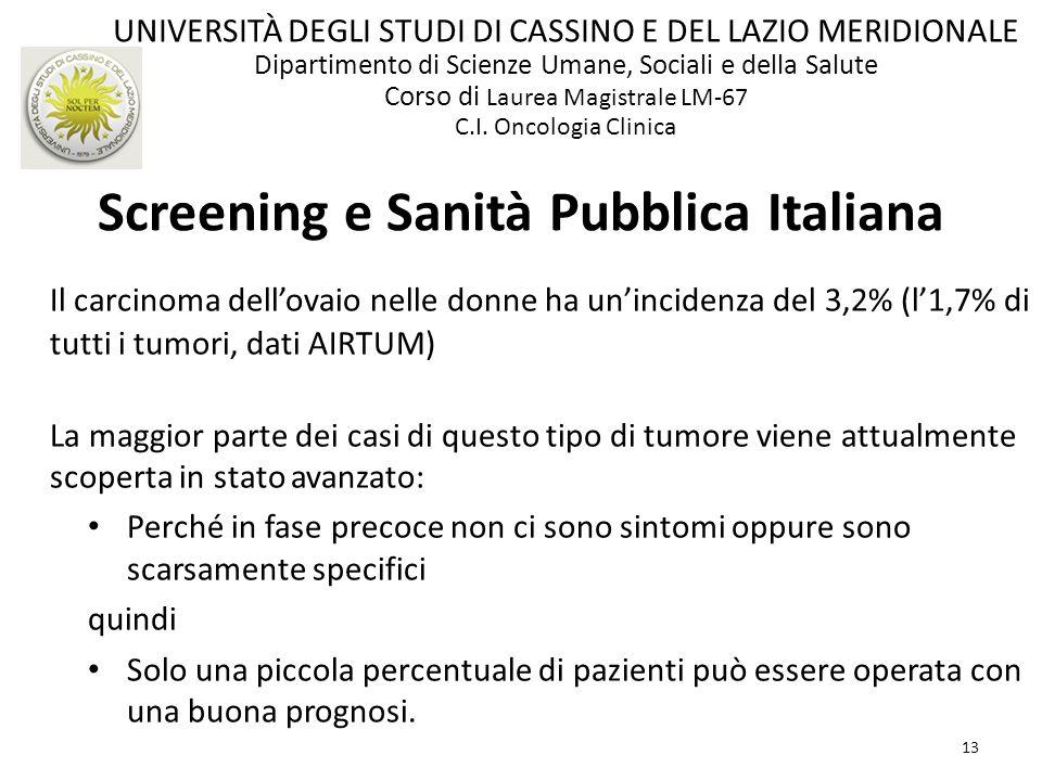Screening e Sanità Pubblica Italiana